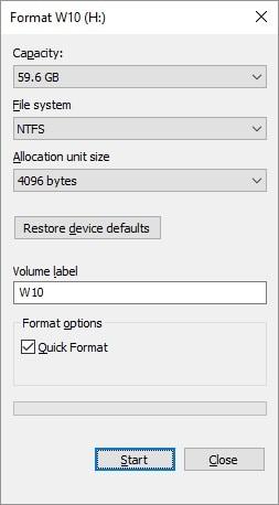 formatear unidad flash USB