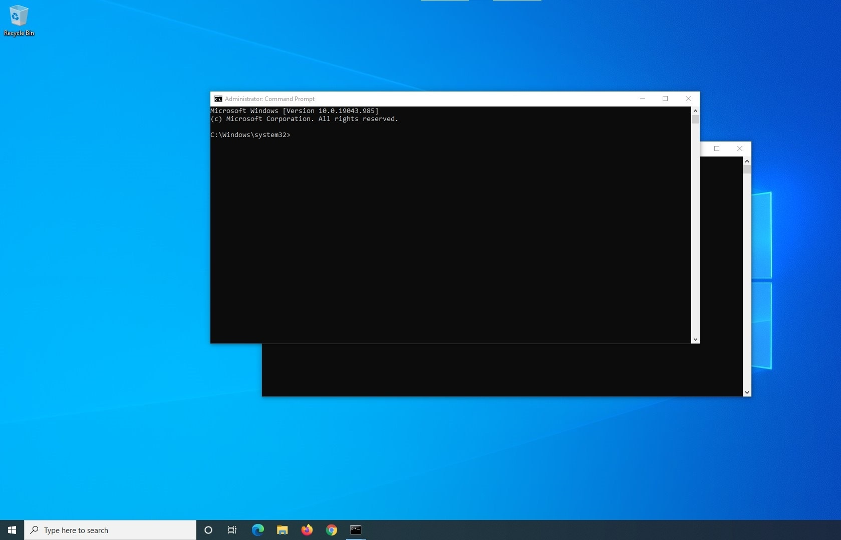 command prompt popping up