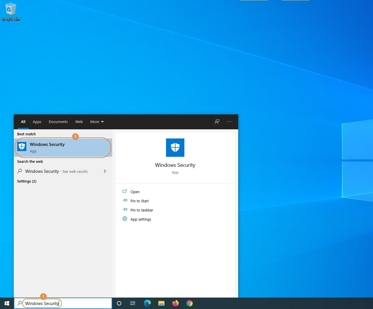 launch windows security