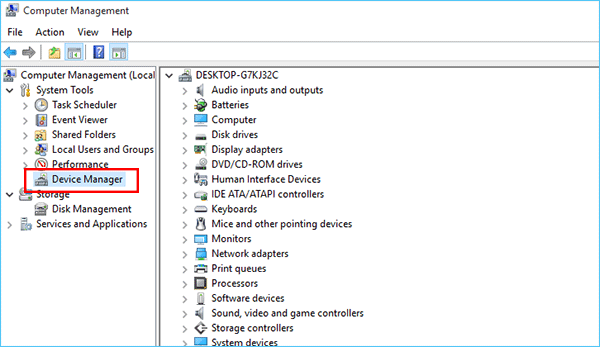 device manager on windows 10