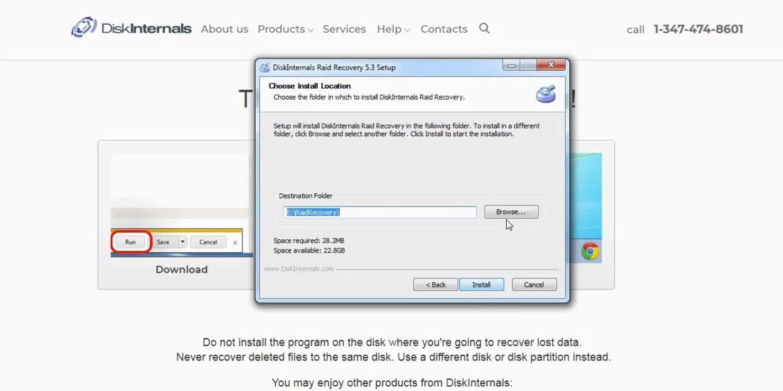 diskinternals raid data recovery software