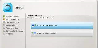 Zinstall file server migration tool