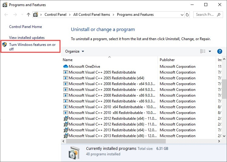 access windows features