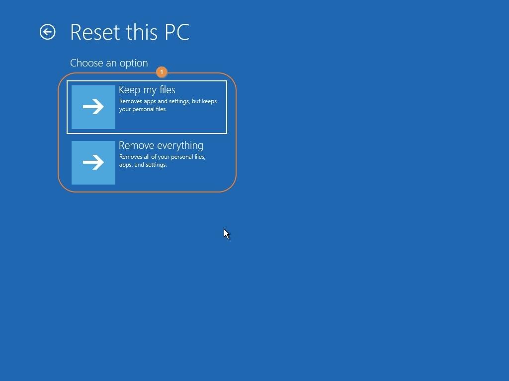 select file handling option