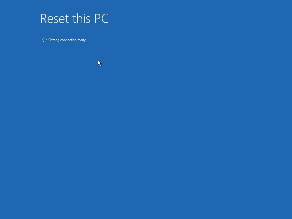 begin pc reset process