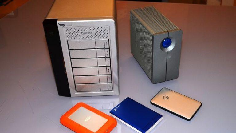 External hard drives and NAS hard drives
