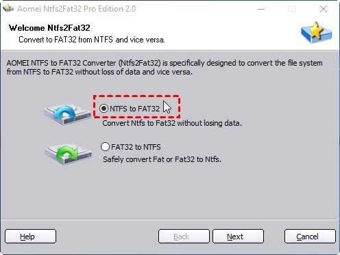 ntfs to fat32 conversion