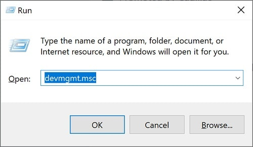 open device manager on windows