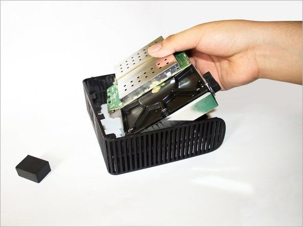 pulling hard drive out from chassis of my book live device