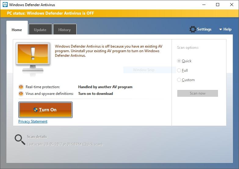 running antivirus to remove malware and viruses