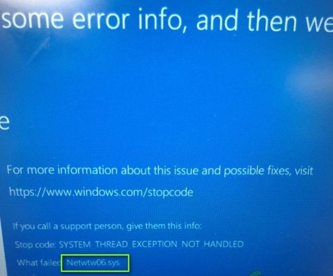 stop code error