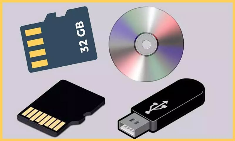 the storage devices for backup