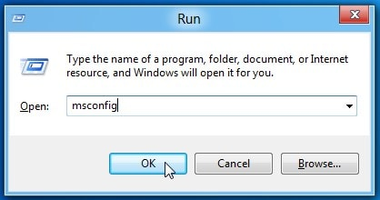 type msconfig and press enter