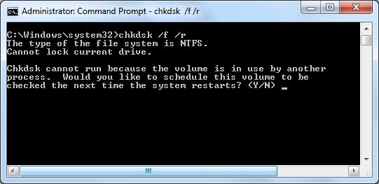 chkdsk your drive