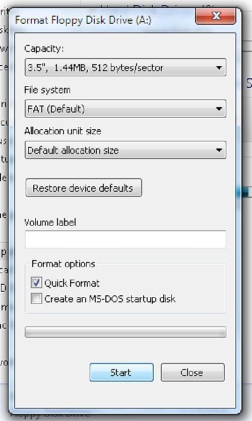 Open floppy disk drive