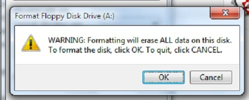 Format the disk