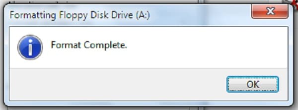 Format the disk completely