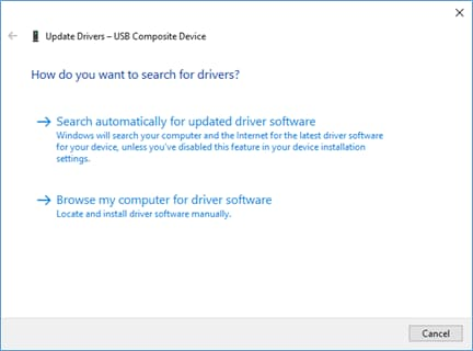search for updated drivers