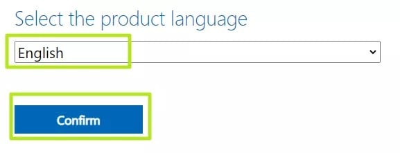 choose the language