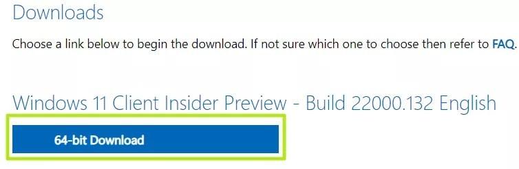 start downloading the iso file
