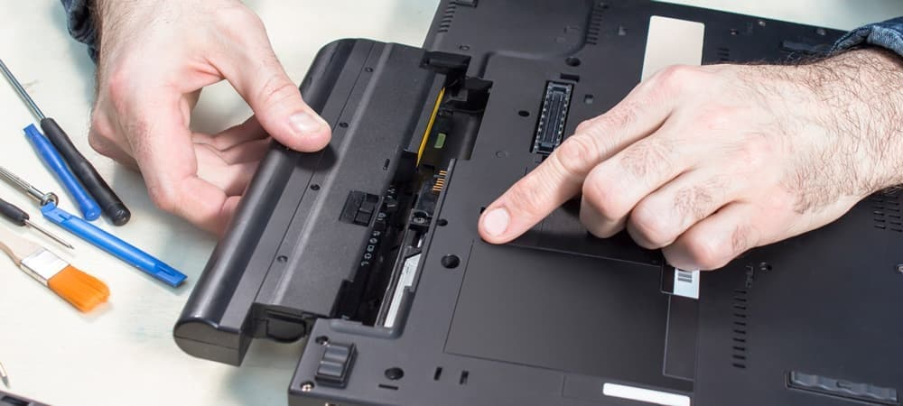 attach the battery with laptop