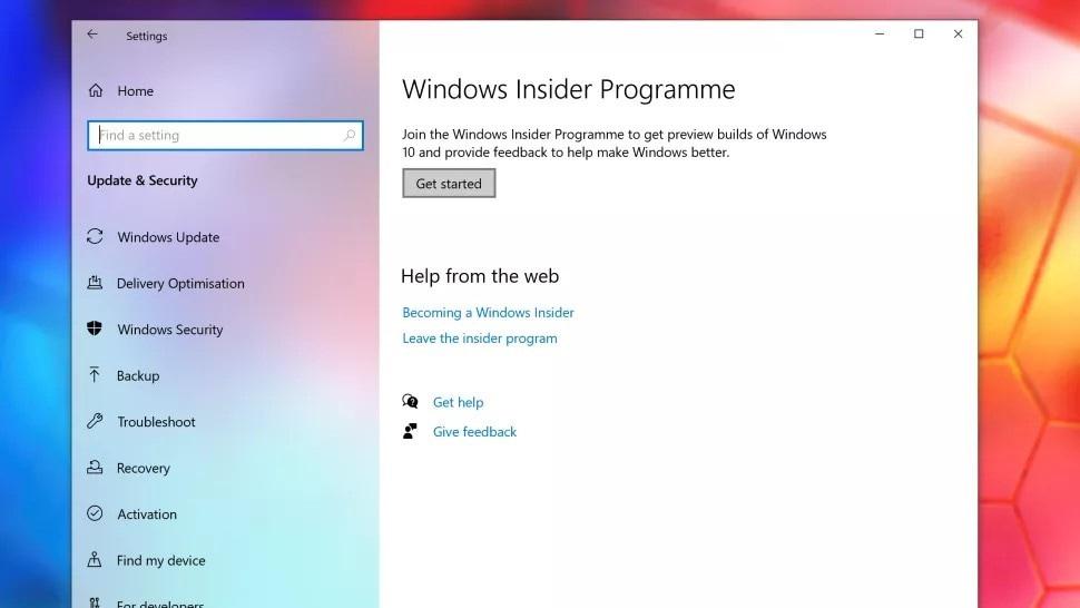 join windows insider programme