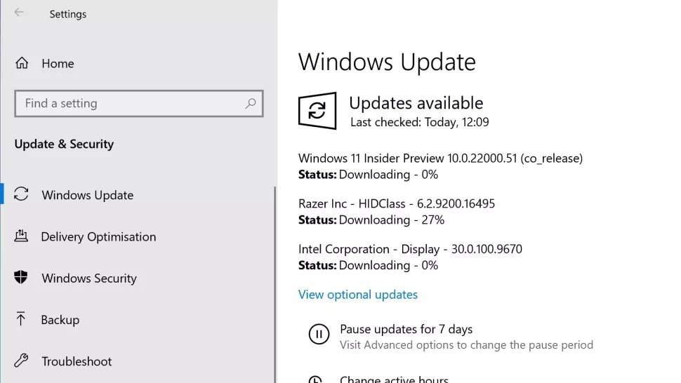 check for windows 11 update