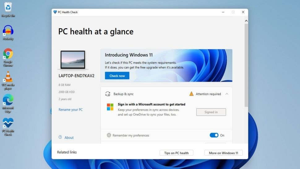 confirm the windows 11 compatibility