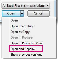 repair corrupt file