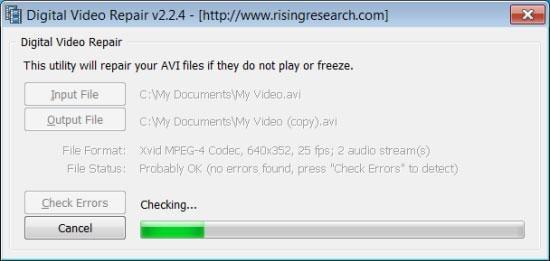 ripara file video corrotti