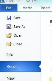 como recuperar um arquivo do word 2010