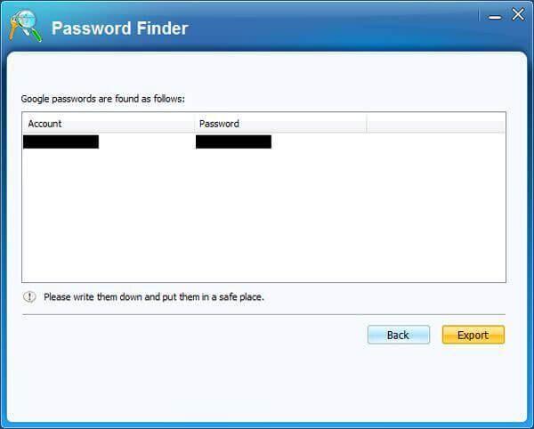 recuperar a senha do gmail com um detetor de senhas do gmail