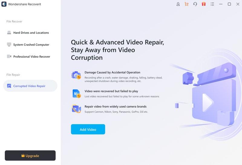 réparation de vidéos sur mac