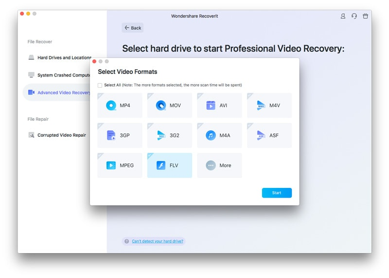 confirm advanced video recovery