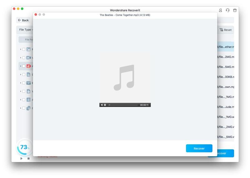 prévisualiser un fichier audio