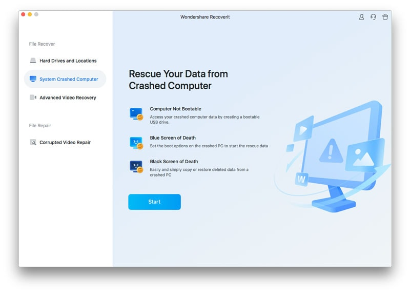recover data from crashed Mac