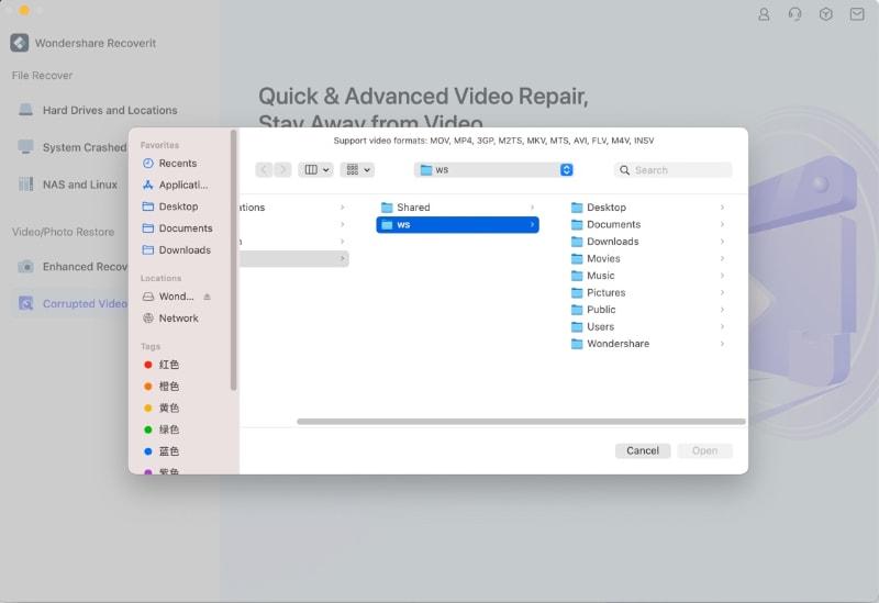 mac video repair add videos