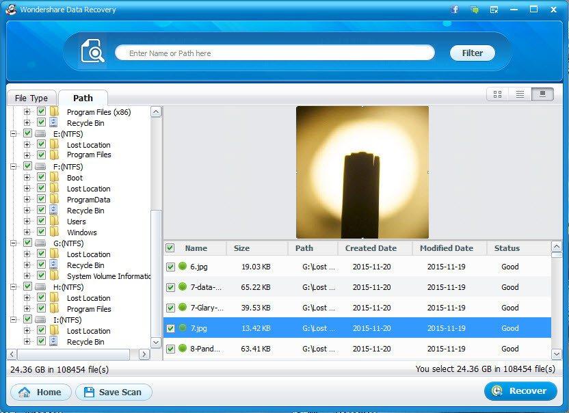 étape 3 de récupérer les données de la carte SD formatée