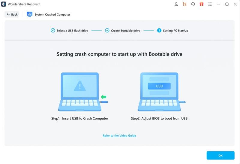création d'un lecteur usb amorçable sur mac