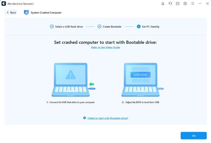 set pc startup