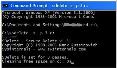 SDelete verwenden, um Dateien dauerhaft zu löschen