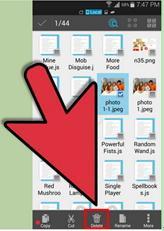 Lokalisieren Sie die heruntergeladene Datei zum Löschen