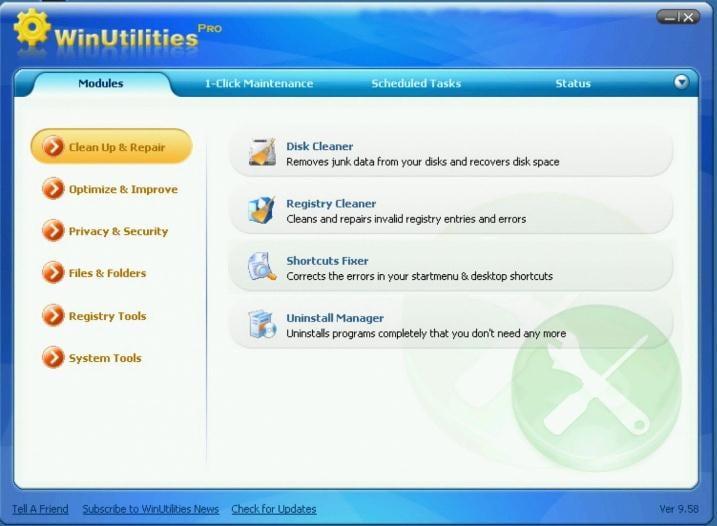 WinUtilities Pro zum Entfernen unerwünschter Dateien unter Windows