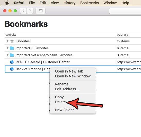 delete-safari-bookmark