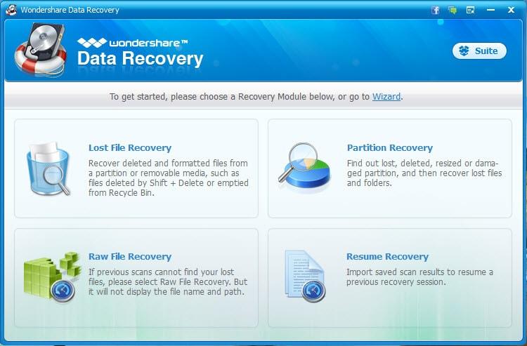 recuperación de datos del disco duro NTFS paso 1