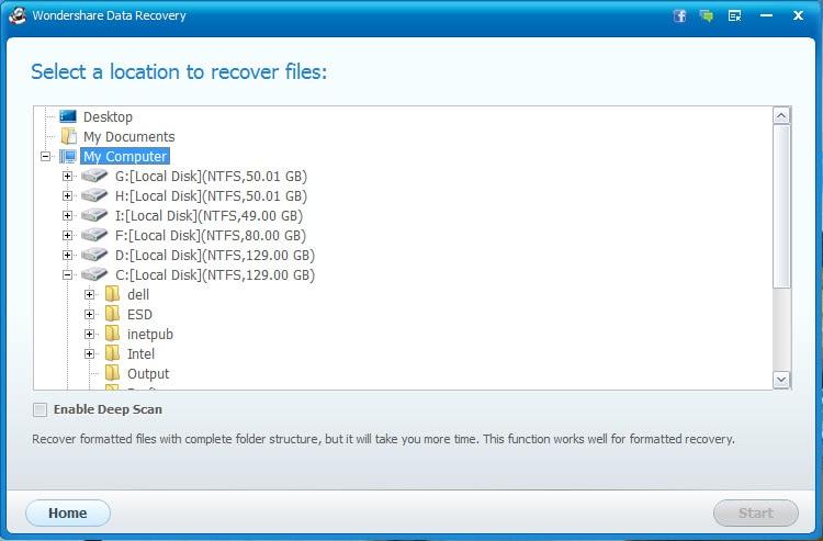 recuperación de datos del disco duro NTFS paso 2