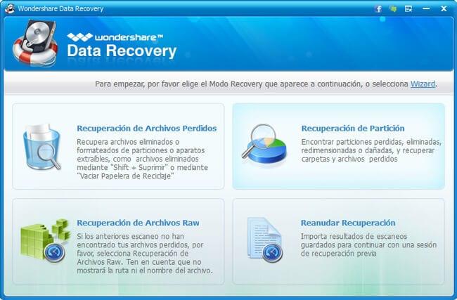 Wondershare Data Recovery completo