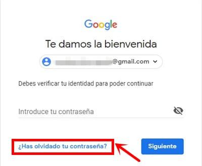 Obtener su contraseña de Gmail de vuelta ahora