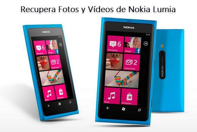 recupera fotos borradas desde Nokia Lumia
