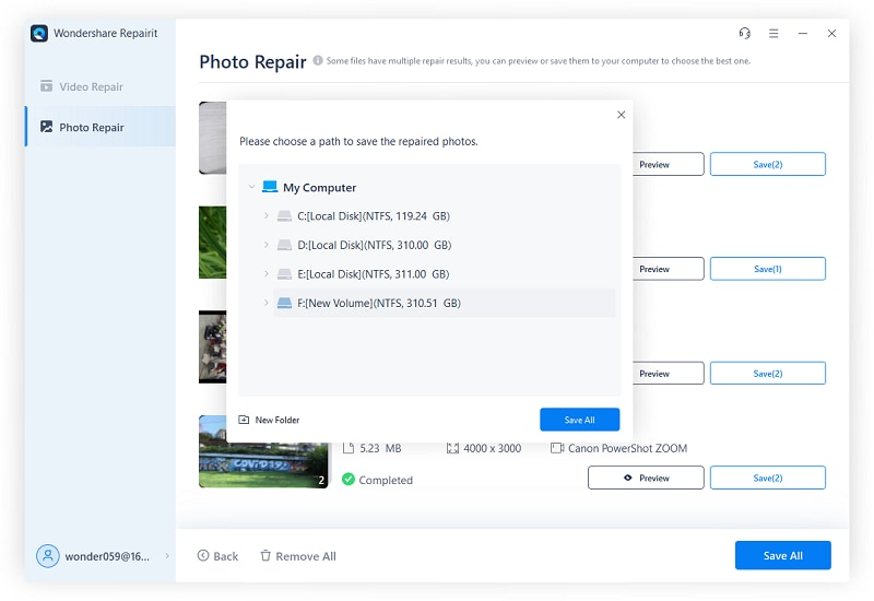 save repaired photos